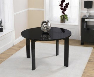 Mark Harris Sophia High Gloss Black Round Dining Table