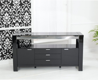 Mark Harris Sophia High Gloss Black Sideboard