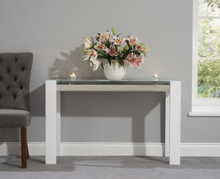 Mark Harris Sophia High Gloss White Console Table