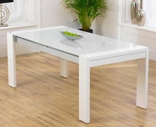 Mark Harris Sophia High Gloss White Dining Table