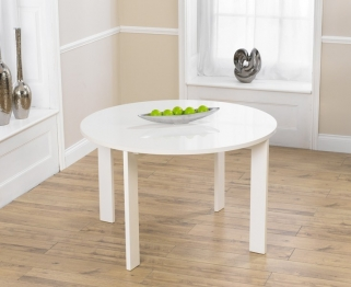Mark Harris Sophia High Gloss White Round Dining Table