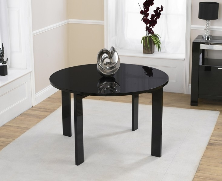 Mark Harris Sophia Black High Gloss Dining Table - Round