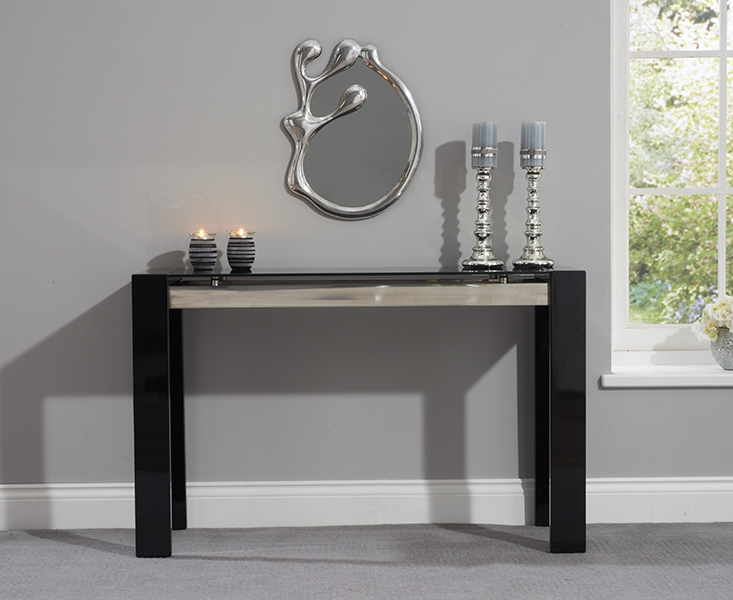Mark Harris Sophia High Gloss Black Console Table