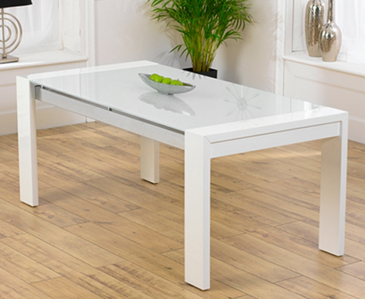 High Quality Mark Harris Sophia High Gloss White Dining Table