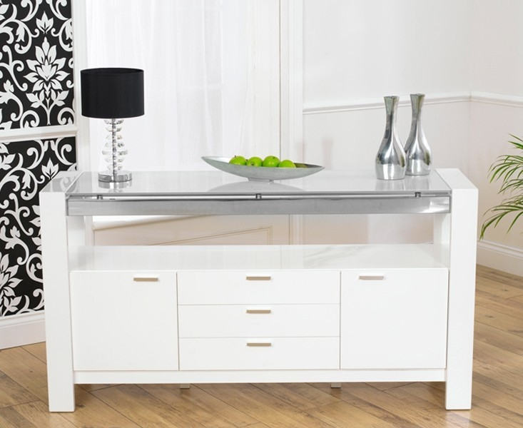 Mark Harris Sophia High Gloss White Sideboard