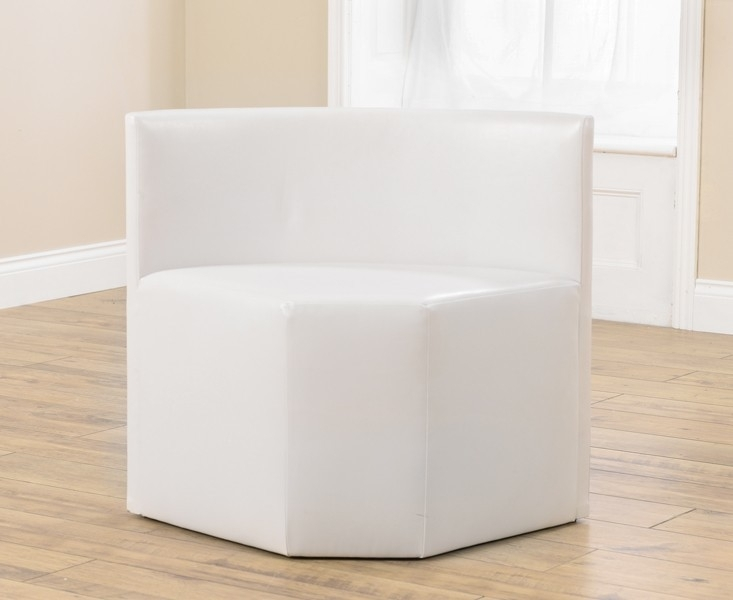 Mark Harris Sophia White Faux Leather Chair (Pair)