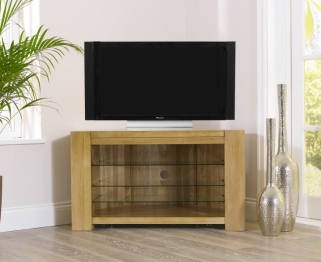 Mark Harris Tampa Solid Oak Corner TV Unit