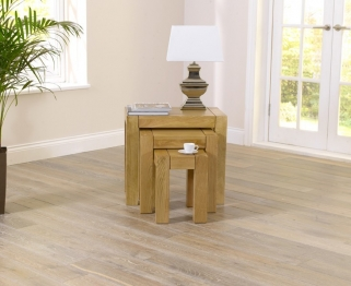 Mark Harris Tampa Solid Oak Nest of Tables