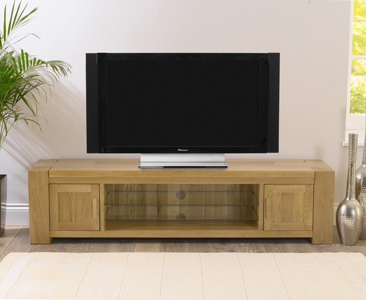 Mark Harris Tampa Solid Oak 180cm TV Unit