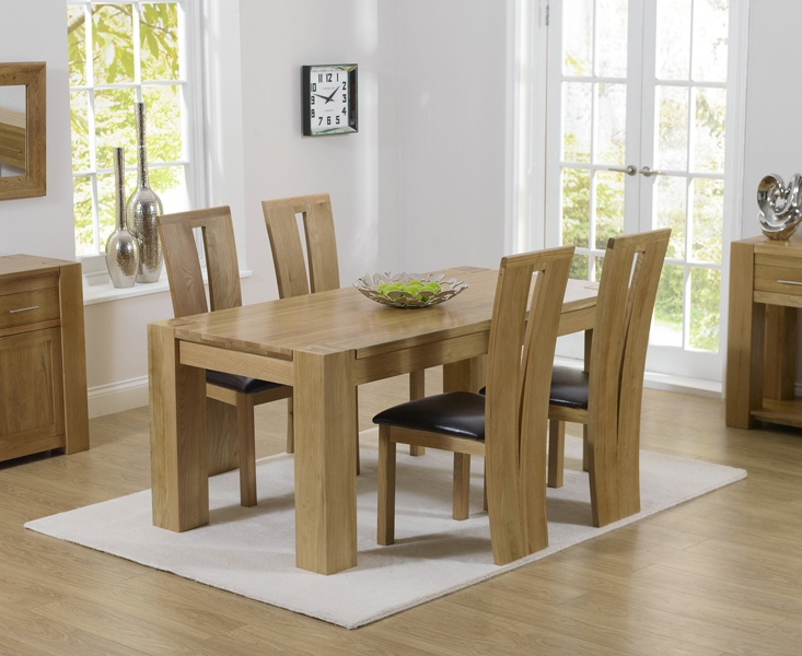 Astonishing Mark Harris Tampa Oak Small Dining Table And 4 Arizona Brown Chairs Interior Design Ideas Ghosoteloinfo