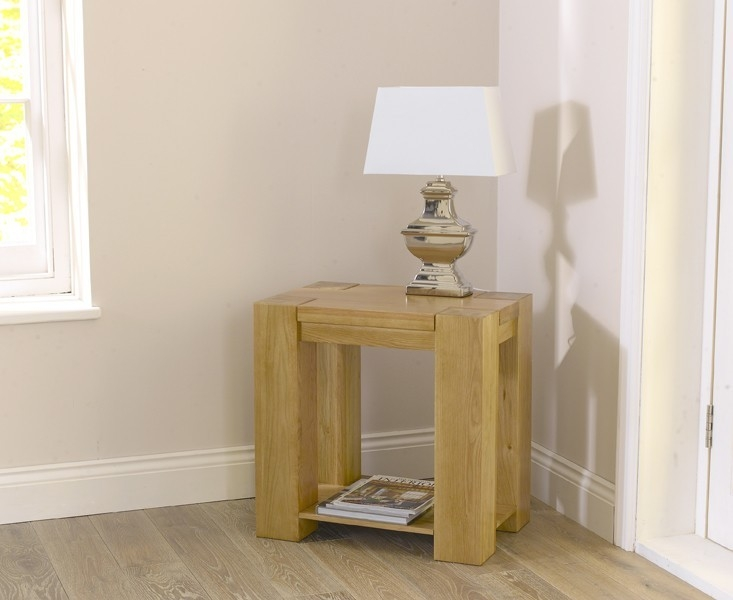 Mark Harris Tampa Solid Oak Lamp Table