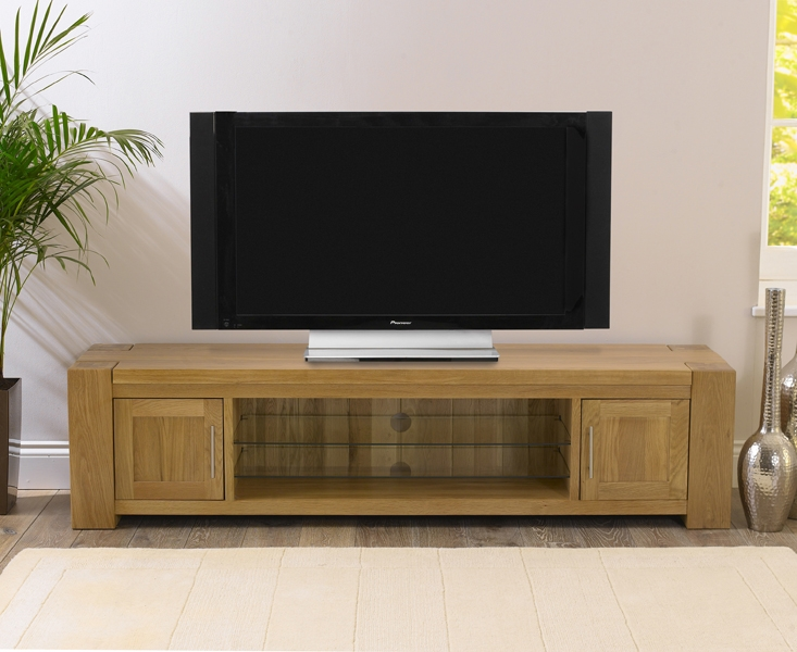 Mark Harris Tampa Solid Oak TV Unit - 180cm