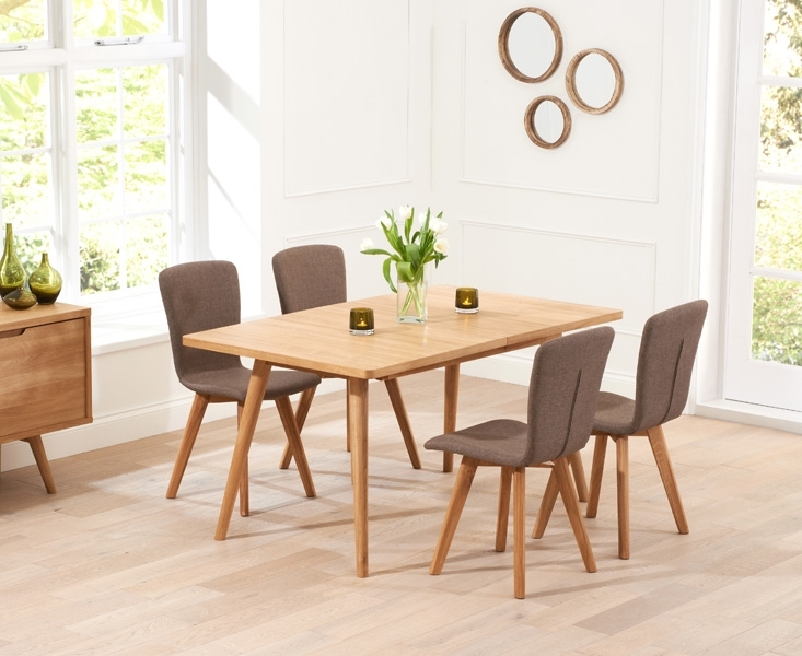 Buy mark harris tribeca oak dining set 150cm rectangular for Furniture markup
