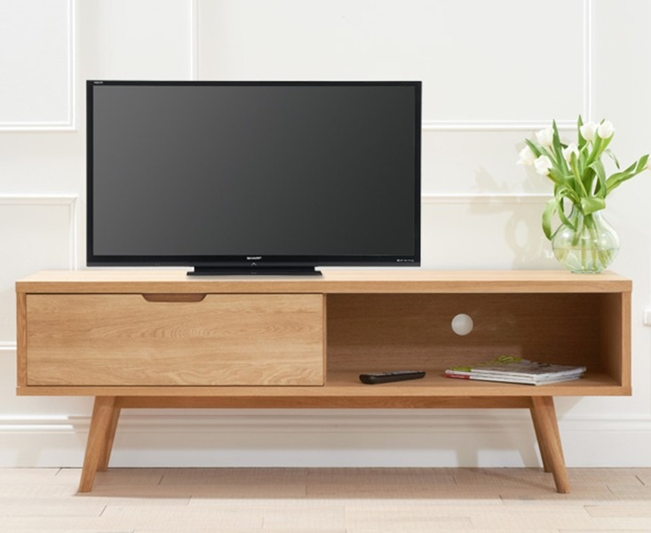 Mark Harris Tribeca Oak TV Unit