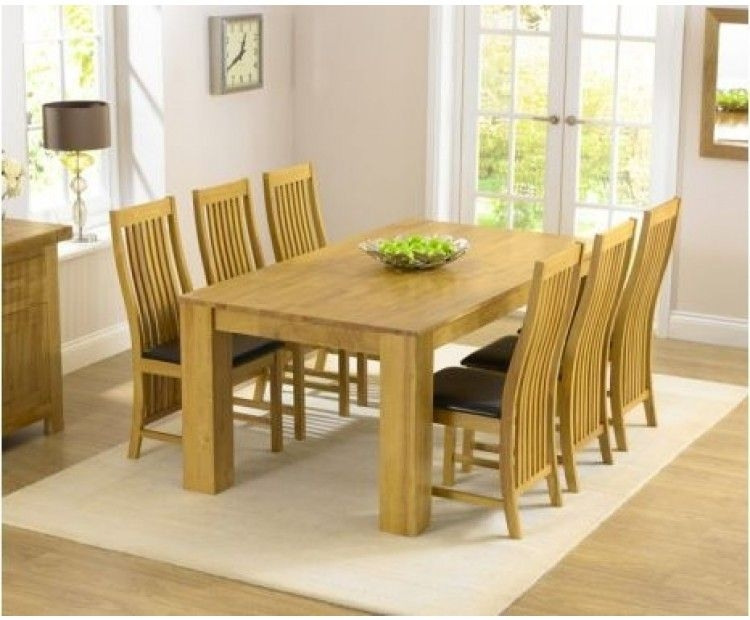 Mark Harris Tula Solid Oak Dining Set - 180cm Rectangular with 6 Chairs