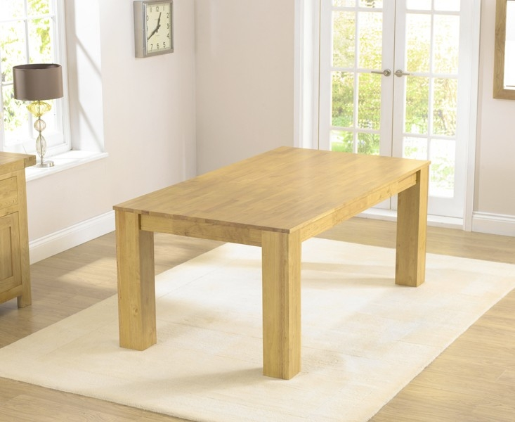 Mark Harris Tula Solid Oak Dining Table - 180cm Rectangular