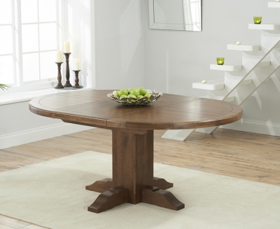 Mark Harris Turin Solid Dark Oak Round Extending Dining Table