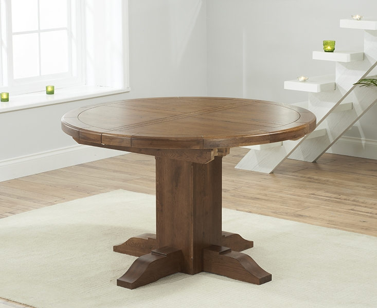 Mark Harris Turin Dark Oak Round Extending Table