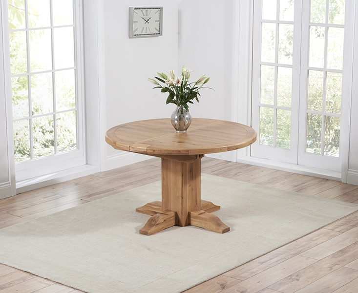 Mark Harris Turin Solid Oak 125cm Extending Dining Table
