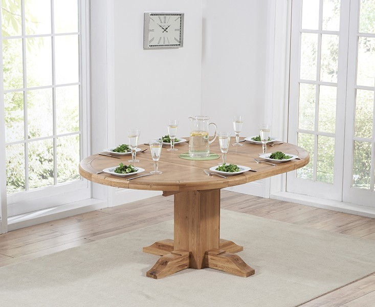 Mark Harris Turin Oak Round Extending Dining Table