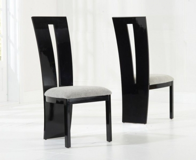 Mark Harris Valencie Black High Gloss Dining Chair (Pair)