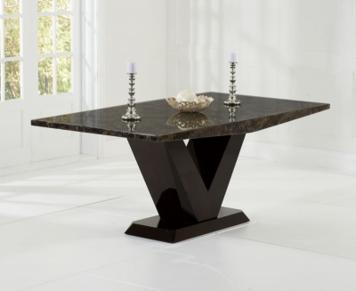 Mark Harris Valencie Brown Constituted Marble Dining Table