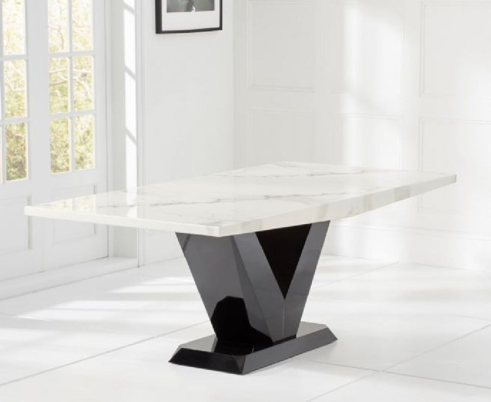Mark Harris Valencie White Marble Dining Table