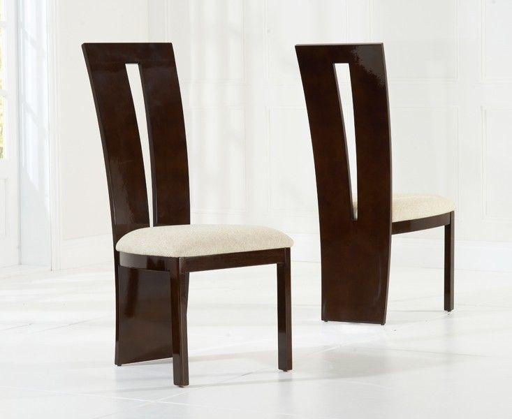 Mark Harris Valencie Brown High Gloss Dining Chair (Pair)