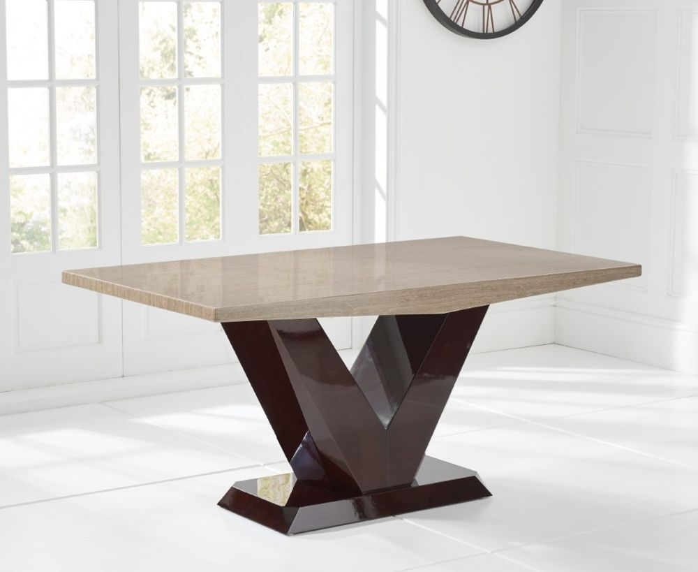 Mark Harris Valencie Brown Marble Dining Table