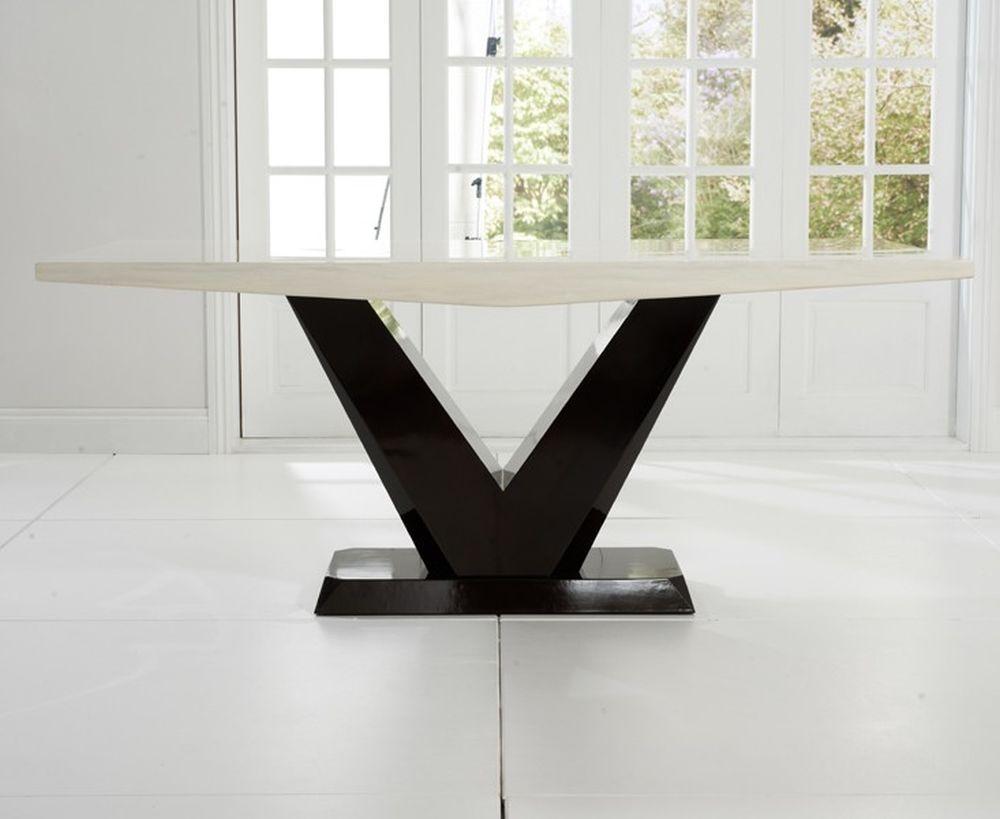 Mark Harris Valencie Cream Marble Dining Table