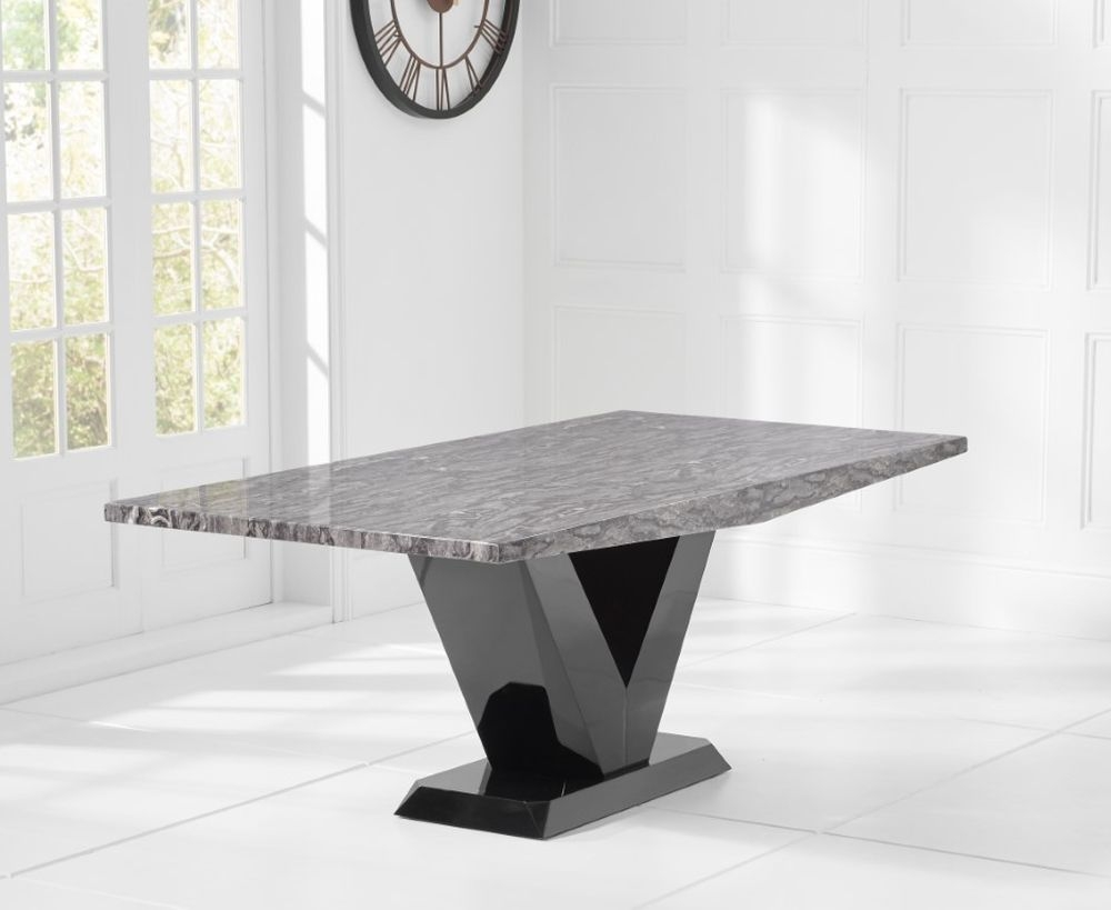 Mark Harris Valencie Grey Marble Dining Table