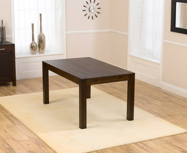 Mark Harris Verona Solid Dark Oak Dining Table - 150cm