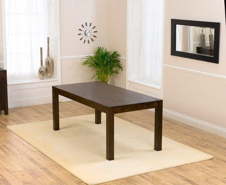 Mark Harris Verona Solid Dark Oak Dining Table - 180cm Rectangular