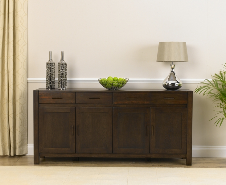 Mark Harris Verona Solid Dark Oak Extra Large Sideboard
