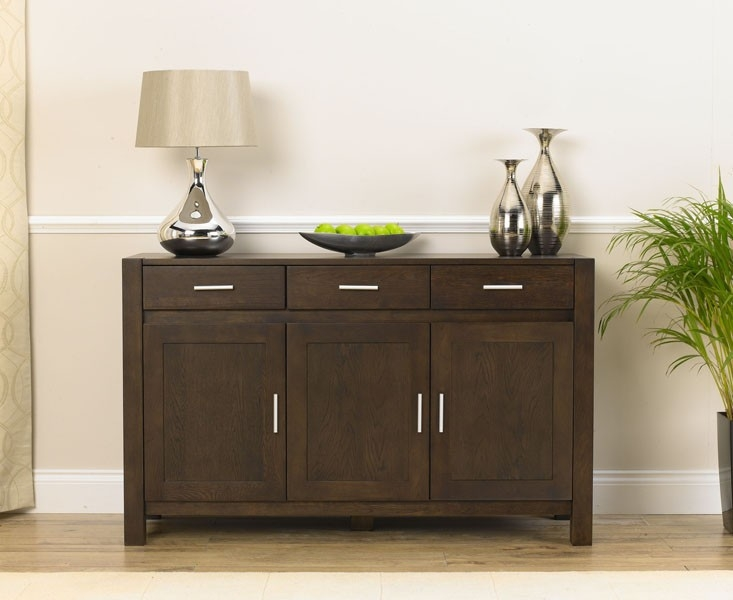 Mark Harris Verona Solid Dark Oak 3 Door 3 Drawer Medium Sideboard