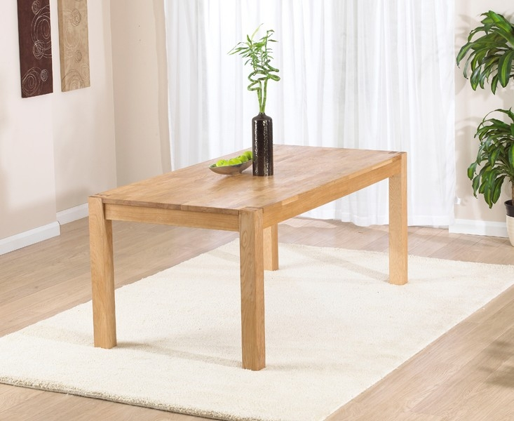 Mark Harris Verona Solid Oak Dining Table - 120cm Rectangular Extending