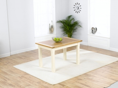 Mark Harris Windsor Painted Cream with Natural Ash Top 120cm Dining Table