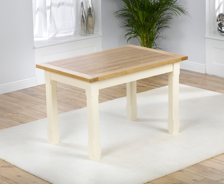 Mark Harris Windsor Painted Cream with Natural Ash Top Dining Table - 150cm