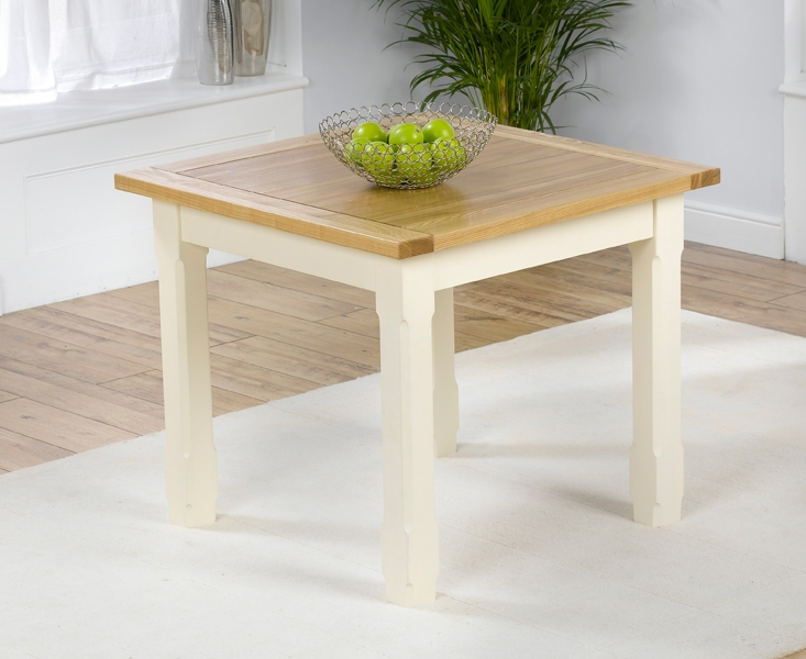 Mark Harris Windsor Painted Cream with Natural Ash Top Dining Table - 90cm Square