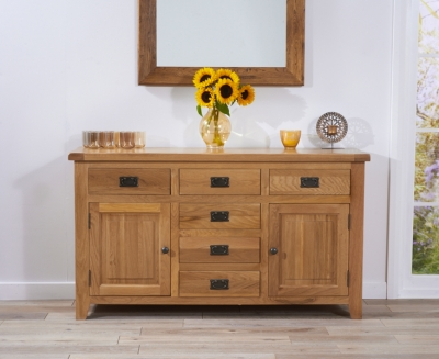 Mark Harris York Solid Oak 150cm Sideboard with 2 Door and 6 Drawer