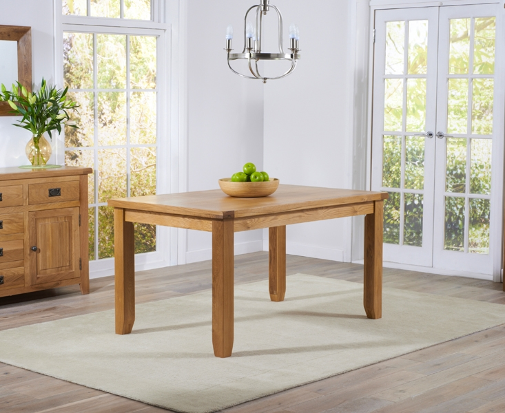 Mark Harris York Solid Oak 140cm Dining Table