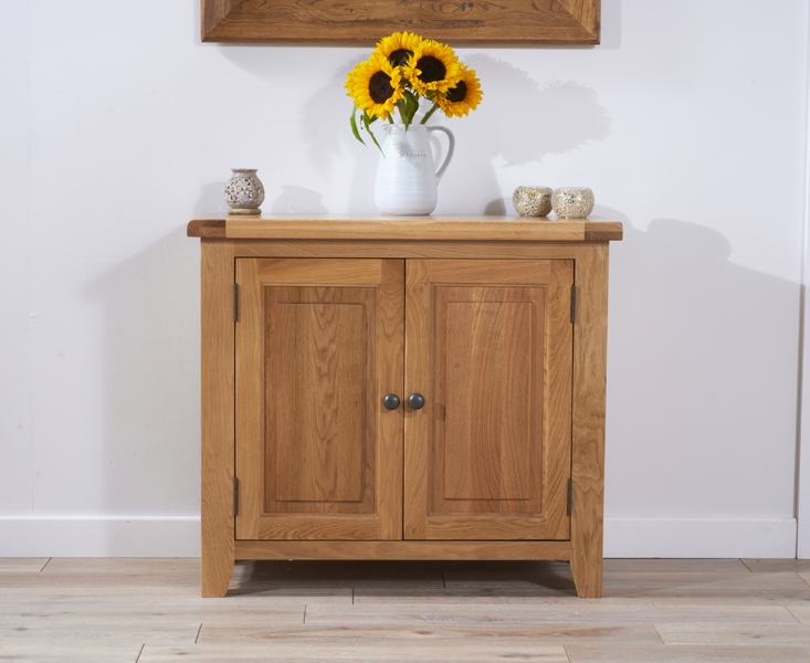 Mark Harris York Solid Oak 90cm Sideboard with 2 Door
