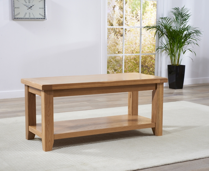 Mark Harris York Solid Oak Coffee Table with Storage Shelf