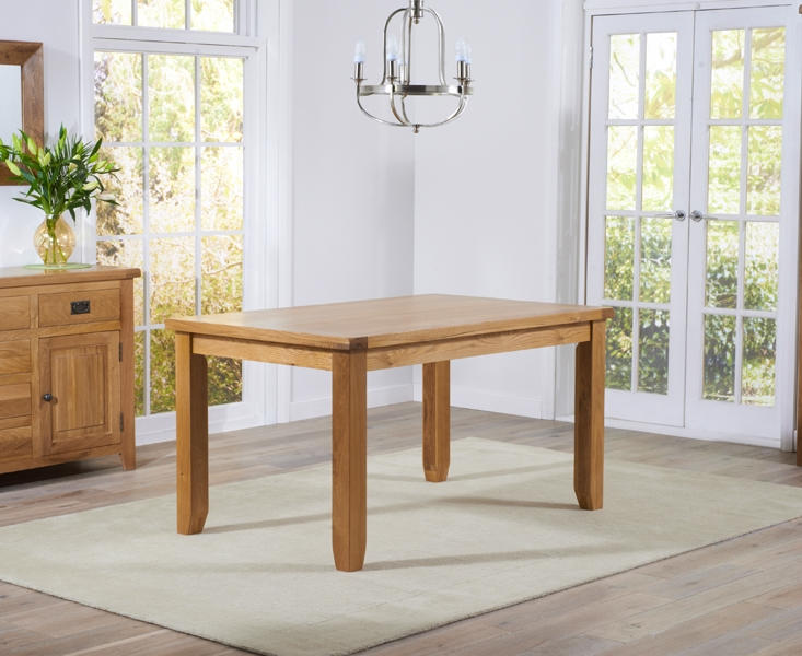 Mark Harris York Solid Oak Dining Table - 140cm