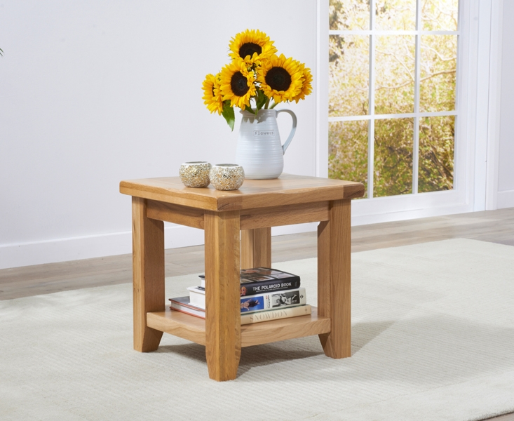 Mark Harris York Solid Oak Lamp Table
