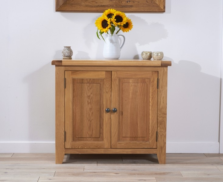 Mark Harris York Solid Oak Sideboard - 90cm 2 Door
