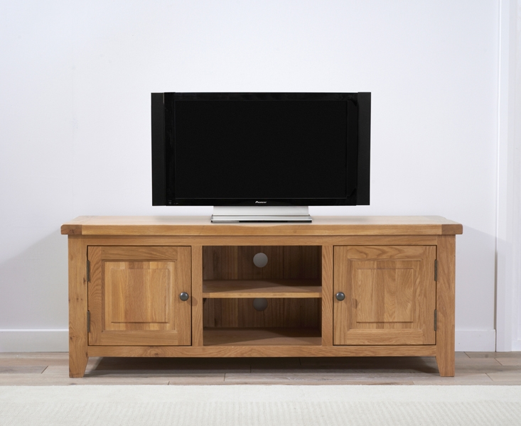 Mark Harris York Solid Oak 2 Door TV Unit - 150cm