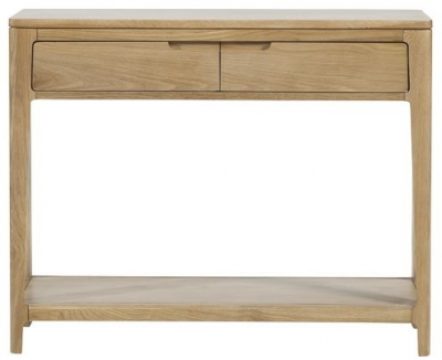 Mark Webster Ava Oak Console Table - 2 Drawer