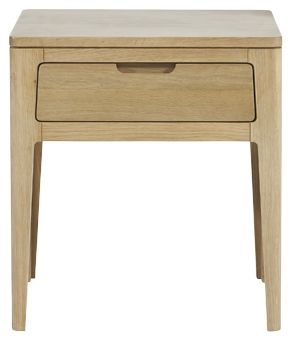 Mark Webster Ava Oak Lamp Table - 1 Drawer