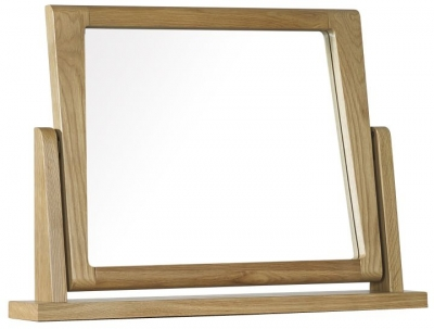 Mark Webster Ava Oak Pedestal Mirror